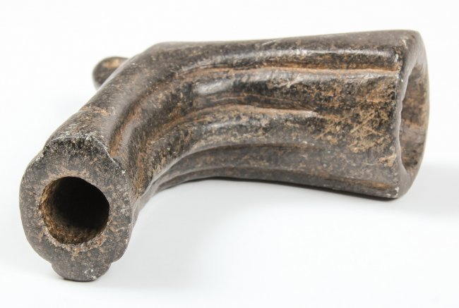 Carved Stone Pipe : Native american carved stone pipe lot