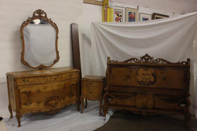 165 3pc Mixed Wood Bedroom Set Lot 165
