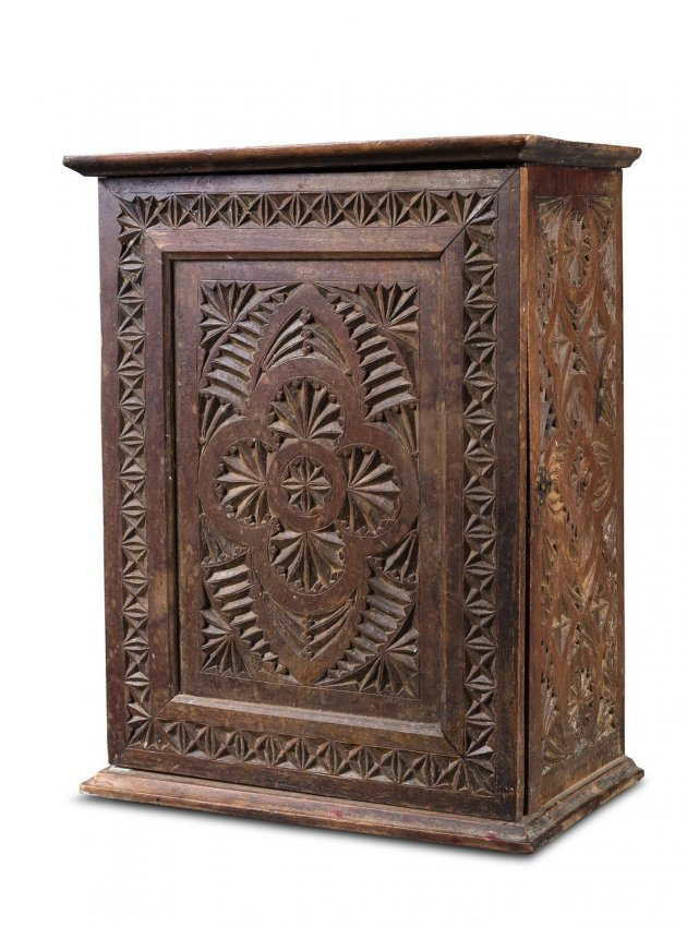 A small pine chip carved cabinet australia th lot