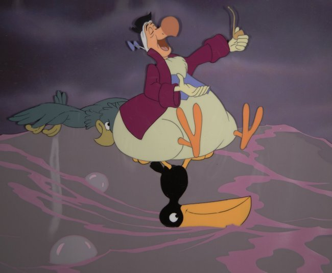 13: Alice in Wonderland: Dodo with Other Birds at Sea W ...