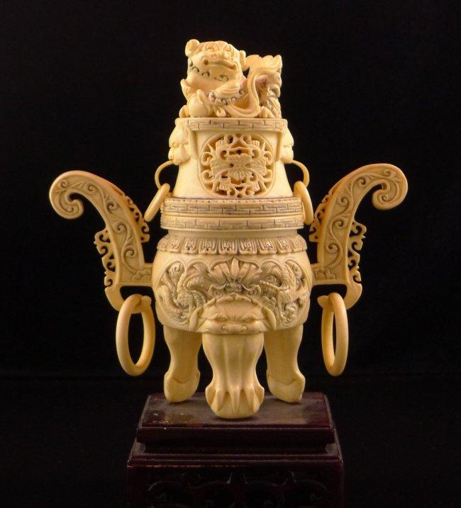 Qing Emperor Qianlong Ivory Incense Burner : Lot 5