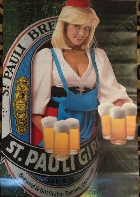 246 Original St Pauli Girl Beer Poster Lot 246