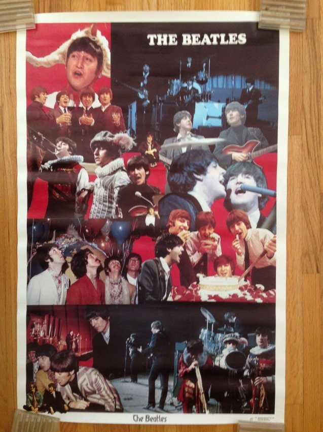 THE BEATLES - 1976 COLLAGE POSTER : Lot 1631