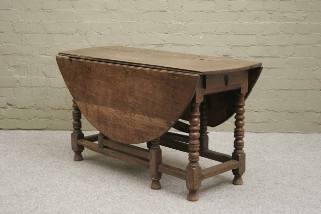 743 a period oak gateleg dining table with two drawers lot 743 - Gateleg table with drawers ...