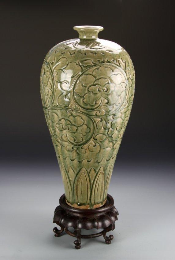 Chinese Yao Zhou Ware Meiping Vase Lot 524