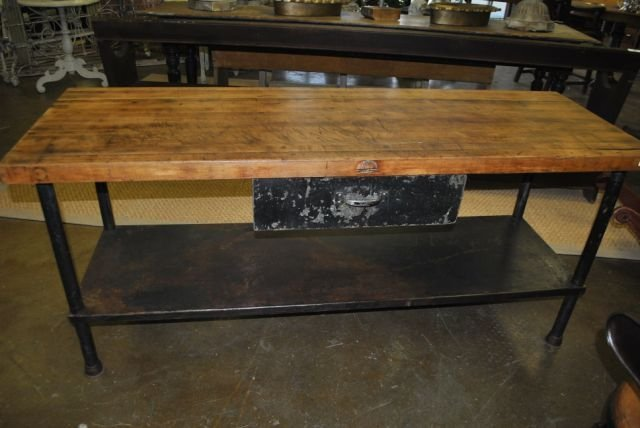 Beautiful Industrial Butcher Block