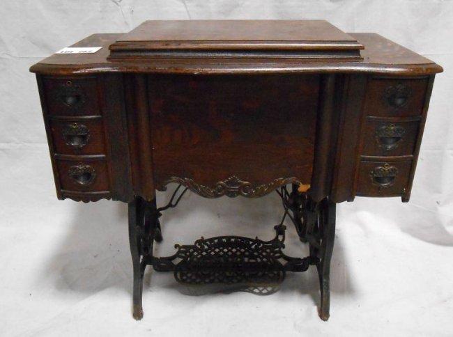 194 Antique Treadle Sewing Machine Lot 194
