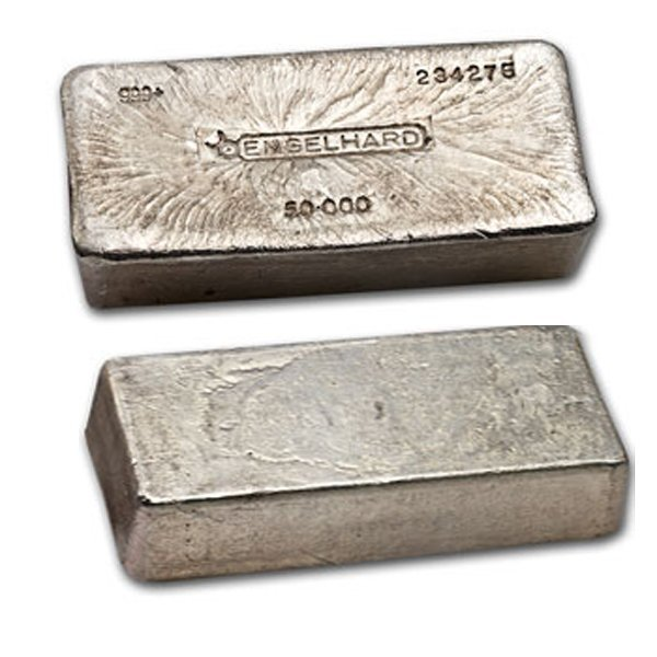 50 Oz Engelhard Silver Bar 999 Fine Unique Item Lot