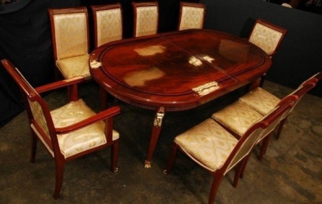 Versace Dining Table and Nine Chairs Lot 385 : 207974281l from liveauctioneers.com size 650 x 412 jpeg 46kB