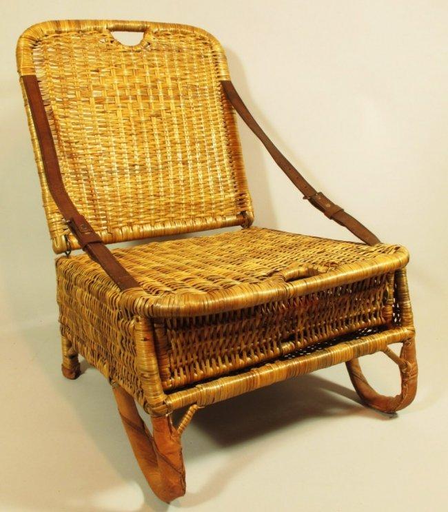 305 Wicker Folding Canoe Seat Lot 305