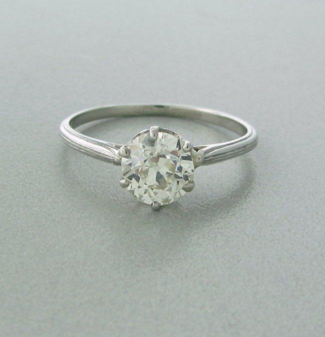 Tiffany & Co Diamond Antique Platinum Engagement Ring Lot 432