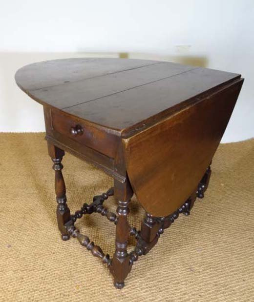 177 a 17thc oak oval gate leg table with drawer to one lot 177 - Gateleg table with drawers ...