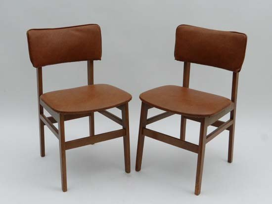vintage retro a pair of danish style dining chairs lot 77