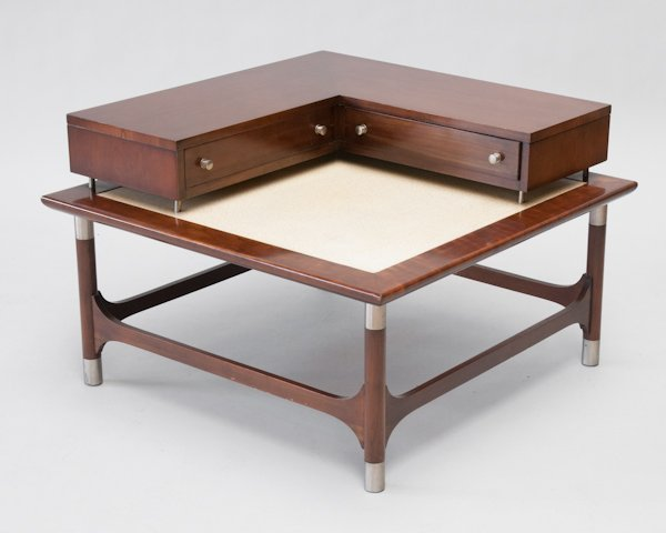293 Large Mid Century Modern Coffee Table With L Shape Lot 293