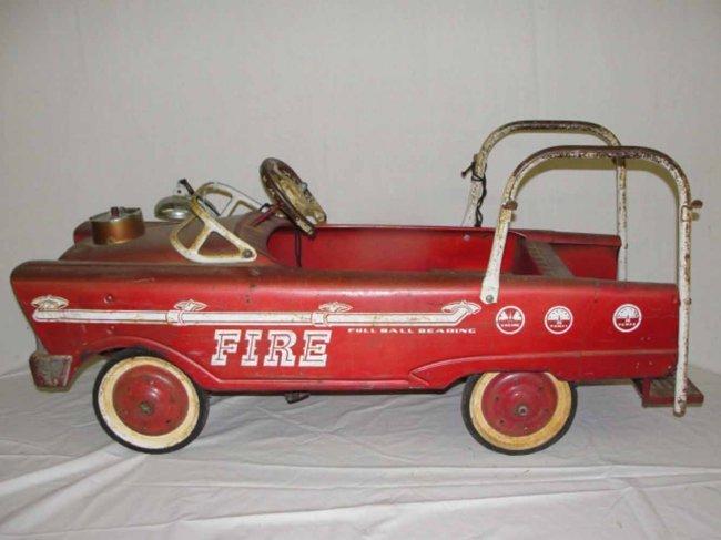 Fire Truck Pedal Car: 123: Fire Truck Pedal Car : Lot 123