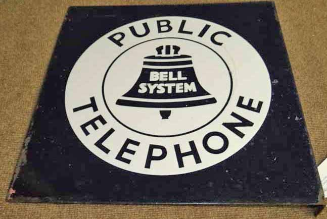 Bell Public Telephone Sign Lot 154