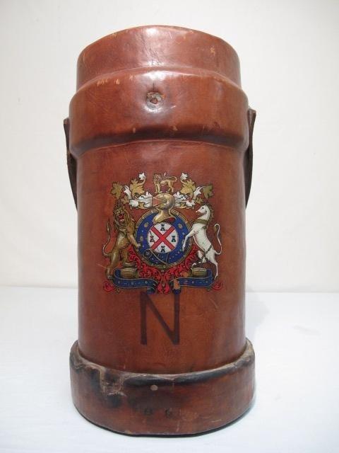 Blue Cardinal Antique Leather Fire Buckets