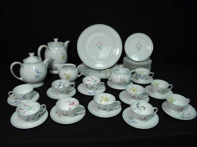 271 hutschenreuther porcelain floral breakfast set 39. Black Bedroom Furniture Sets. Home Design Ideas