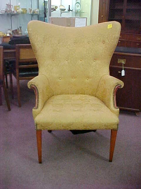 1134 Antique Fan Back Upholstered Chair Lot 1134