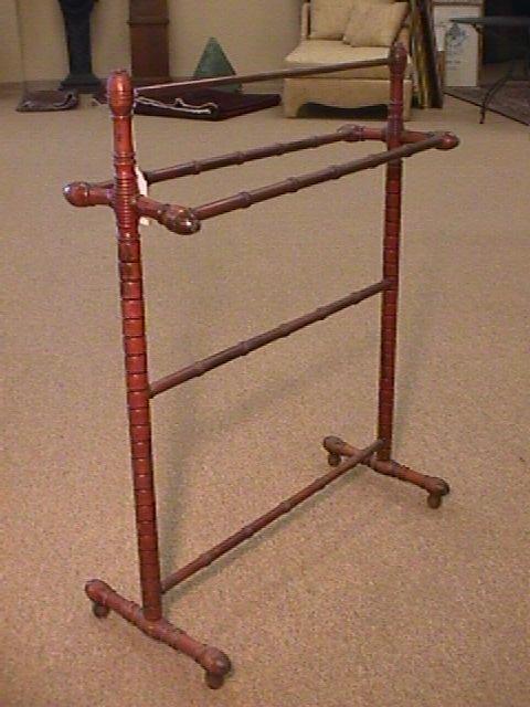 antique wooden quilt rack