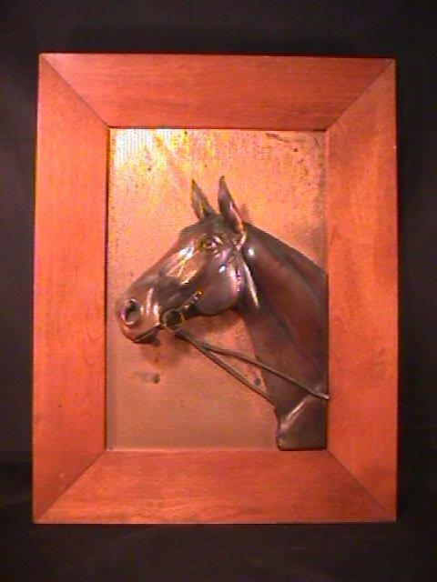 379 Wall Hanging Copper Horse Head Plaque Lot 379