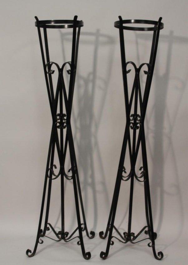 tall metal plant stands 2 lot 235. Black Bedroom Furniture Sets. Home Design Ideas