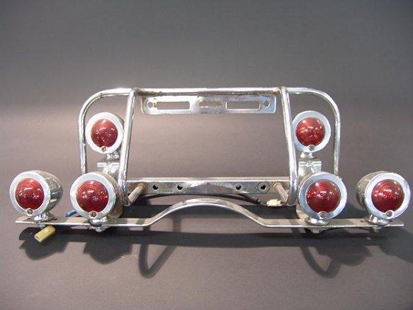 Vintage Tail Light Lens : Vintage motorcycle tail light assembly lot