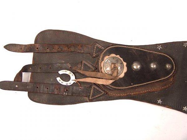 1447 vintage leather motorcycle rider kidney belt lot 1447