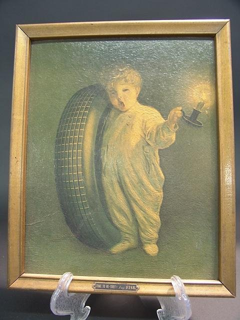 antique fisk tire advertising piece  young boy lot