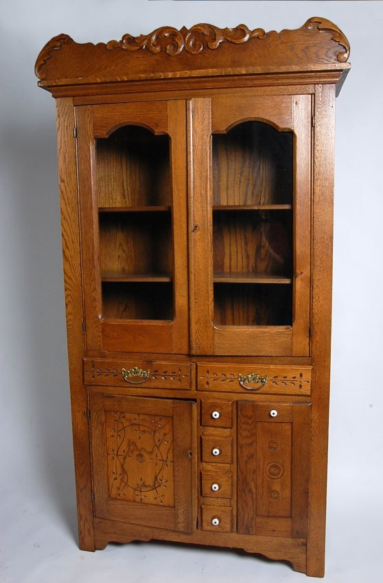 C 1890 antique oak kitchen cabinet with vegetable bin for 1890 kitchen cabinets