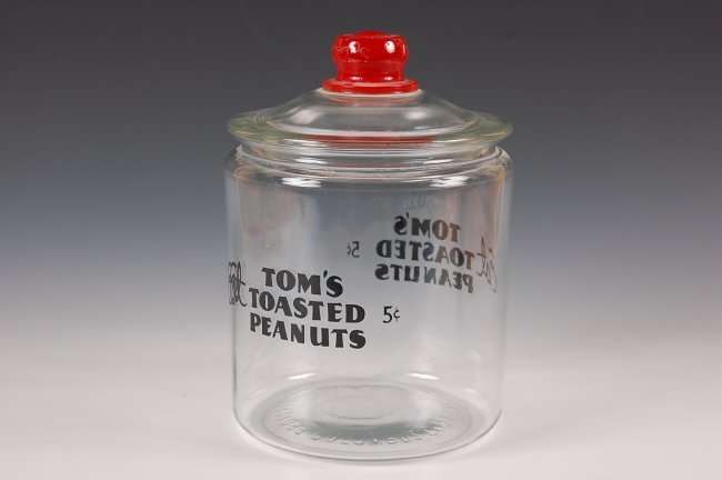 Tom S Toasted Peanuts 5 162 Glass Jar Lot 30