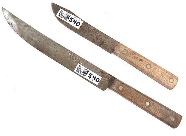 540 two xx kitchen knives lot 540