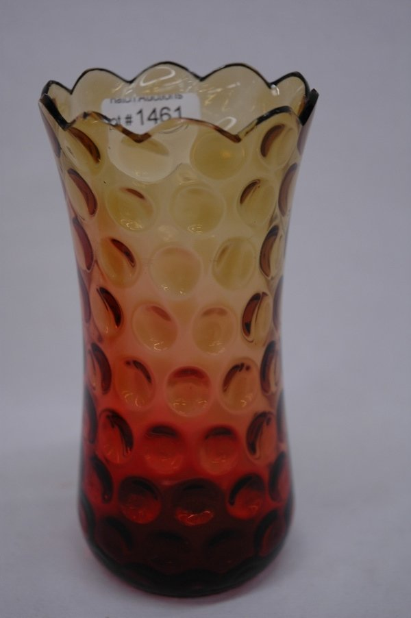 Amberina Vase Smith by Hermenegildo