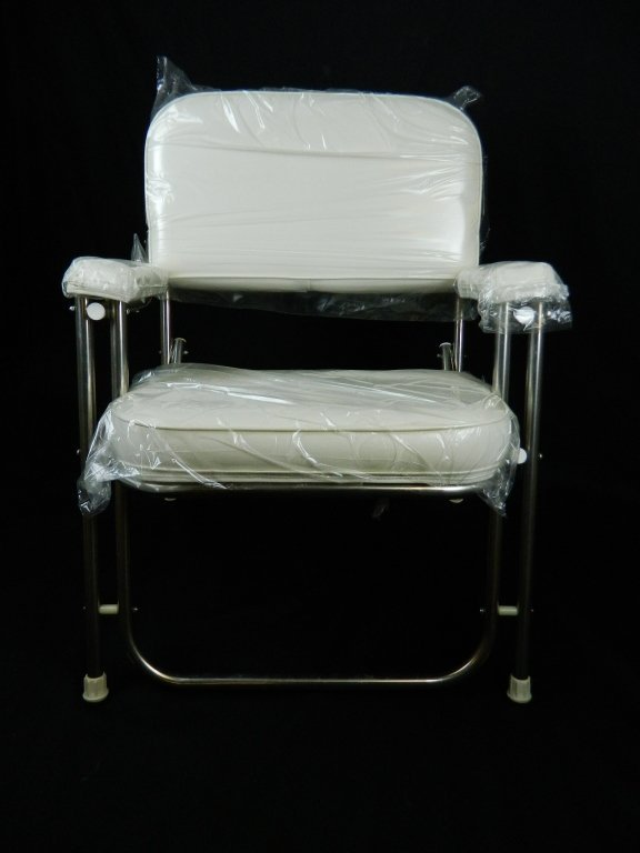 West Marine White Ss Boat Deck Chair Lot 37