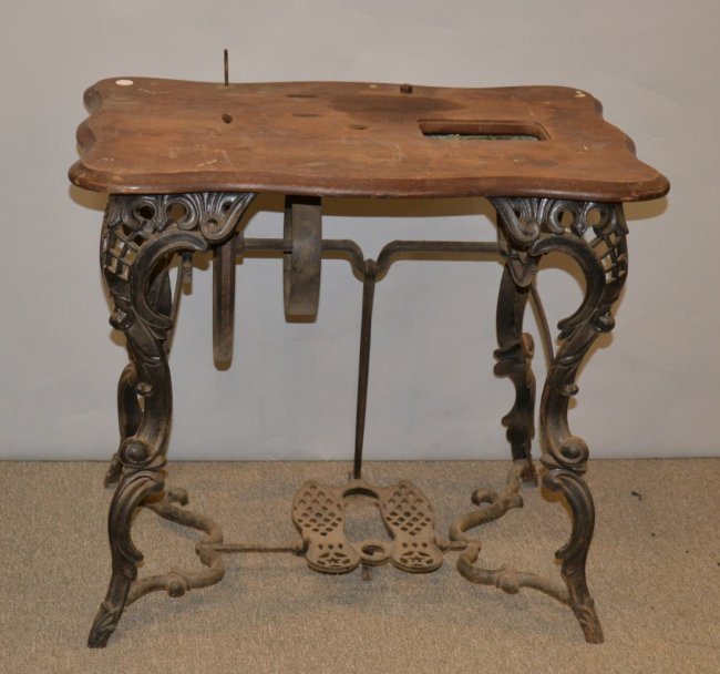 Victorian cast iron florence sewing machine table the - Cast iron sewing machine table ...