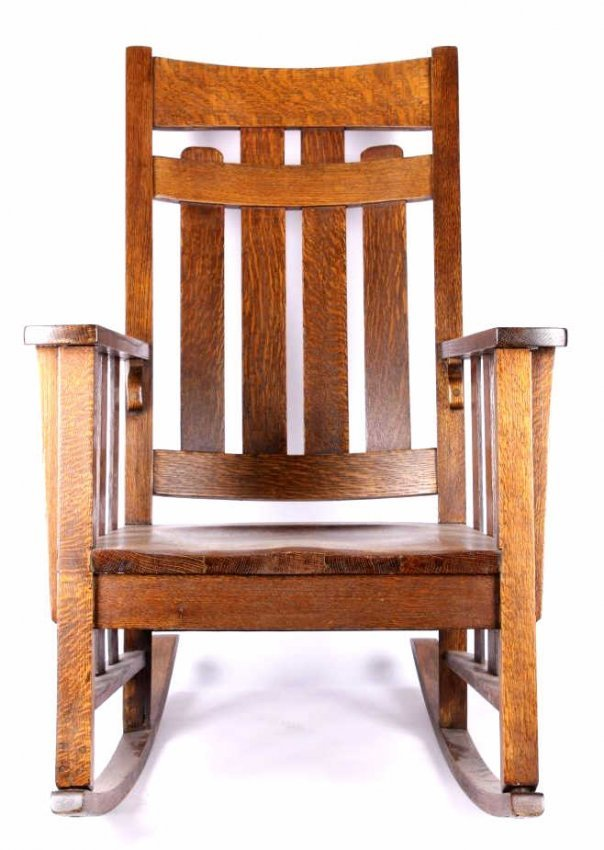 Mission Chairs Antique Model Side Chair In