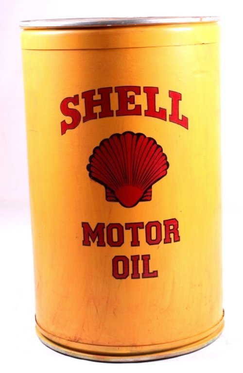 Shell motor oil rodeo barrel this lot features a s lot 28 for Motor oil by the barrel