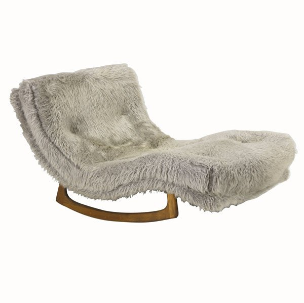 52 adrian pearsall craft associates rocking chaise lot 52 for Adrian pearsall rocking chaise