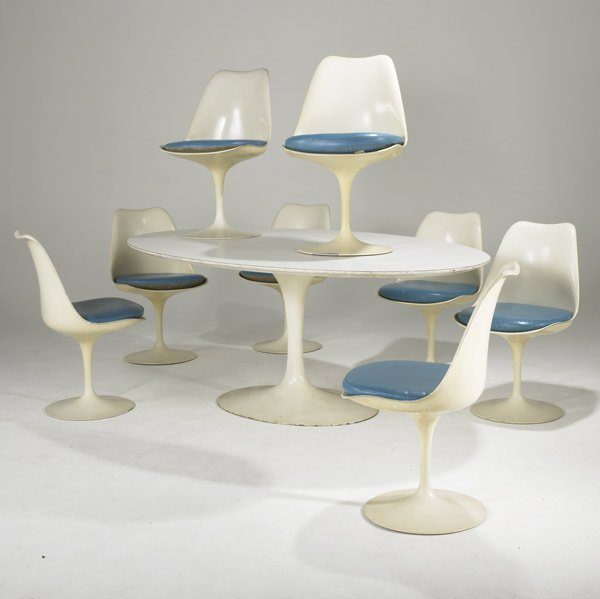 215 Eero Saarinen Knoll Tulip Dining Table Amp Chairs