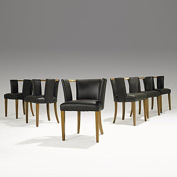 631 Eliel Saarinen Johnson Furniture Dining Chairs Lot 631