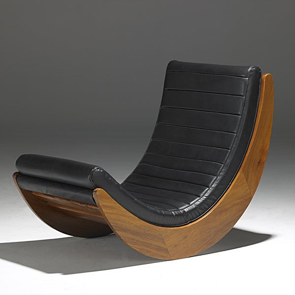 1046 verner panton rosenthal rocking chair lot 1046