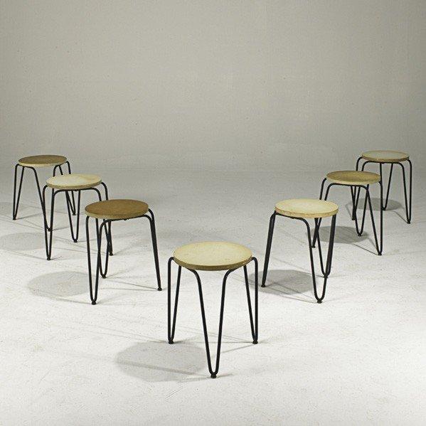 1217 florence knoll knoll associates seven stools lot for Knoll associates