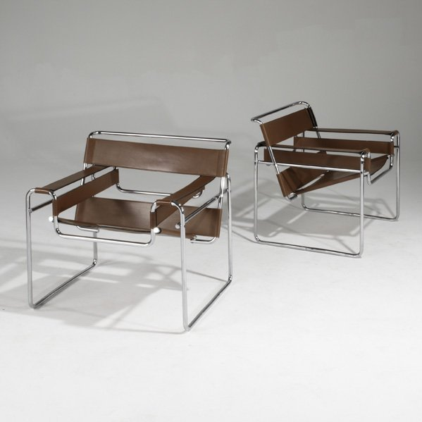 462 marcel breuer knoll gavina pair of wassily chair lot 462. Black Bedroom Furniture Sets. Home Design Ideas