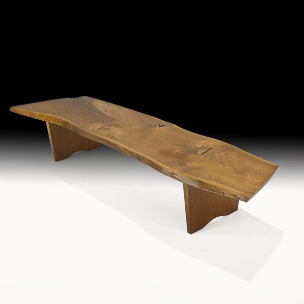 1016 George Nakashima Special Bench Coffee Table Lot 1016