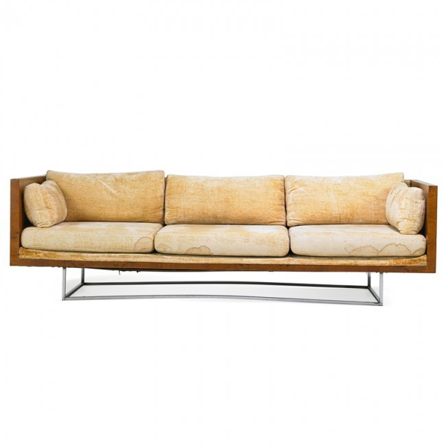 Milo Baughman Thayer Coggin Sofa Lot 617