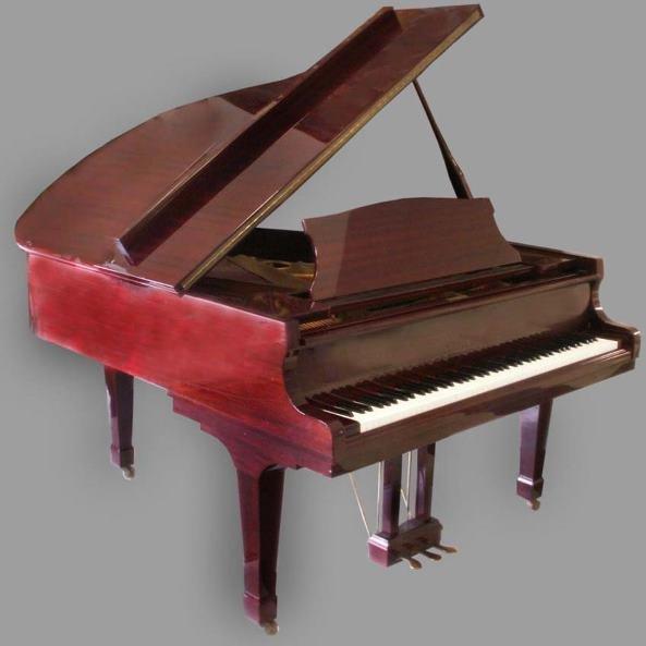 195 Daewoo Sojin Mahogany Dg 2 6 Baby Grand Piano Lot 195