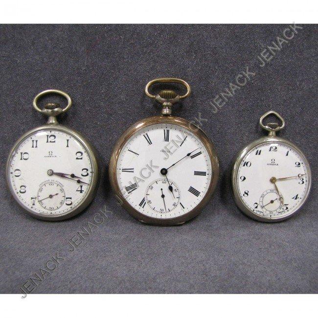 4 lot 3 vintage omega pocket watches lot 4