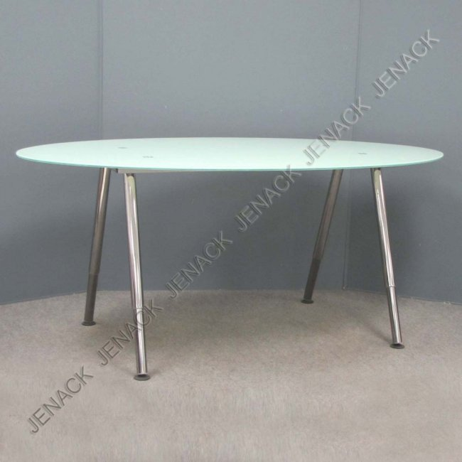 99 ikea modern design oval glass dining table lot 99 - Glass dining table ikea ...