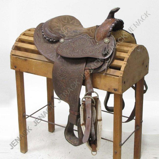 Vintage Western Saddle 80