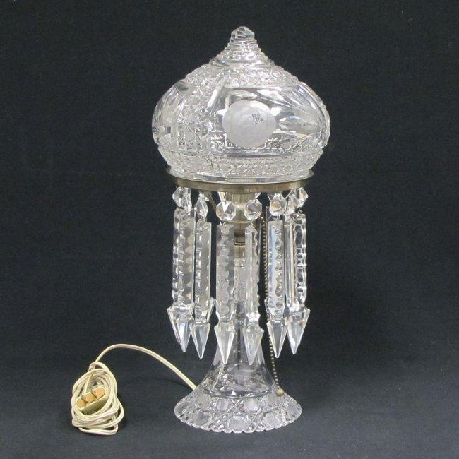 282 vintage pressed and cut crystal table lamp lot 282. Black Bedroom Furniture Sets. Home Design Ideas